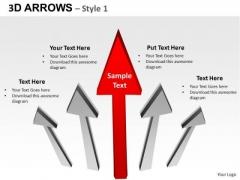 PowerPoint Process Success Arrows Ppt Slides