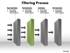PowerPoint Process Success Filtering Process Ppt Slides