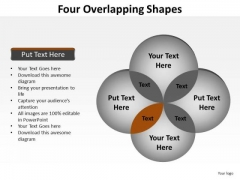 PowerPoint Process Success Four Overlapping Ppt Themes