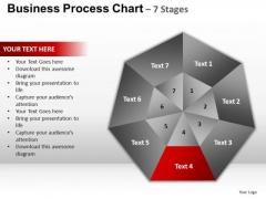 PowerPoint Process Success Hexagon Pie Chart Ppt Slide Designs