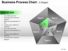 PowerPoint Process Success Pentagon Pie Chart Ppt Backgrounds