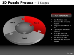 PowerPoint Process Success Pie Chart Puzzle Process Ppt Slidelayout