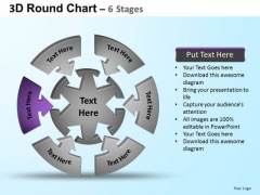 PowerPoint Process Success Round Process Flow Chart Ppt Slides