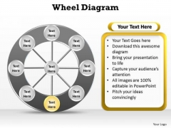 PowerPoint Process Success Wheel Diagram Ppt Themes