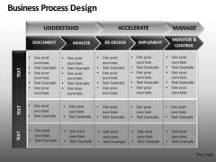 PowerPoint Process Table Chart