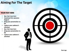 PowerPoint Process Teamwork Aiming For The Target Ppt Designs