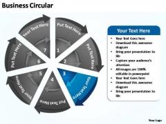 PowerPoint Process Teamwork Business Circular Ppt Design