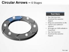 PowerPoint Process Teamwork Circular Arrows Ppt Template