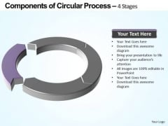 PowerPoint Process Teamwork Components Of Circular Ppt Slides