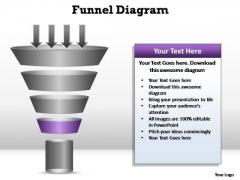 PowerPoint Process Teamwork Funnel Diagram Ppt Template