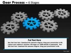 PowerPoint Process Teamwork Gears Process Ppt Backgrounds