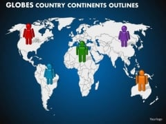PowerPoint Process Teamwork Globes Country Ppt Designs