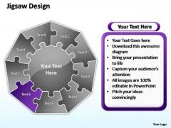 PowerPoint Process Teamwork Jigsaw Format Ppt Slide Designs
