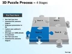 PowerPoint Process Teamwork Puzzle Process Ppt Template