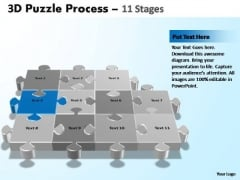 PowerPoint Process Teamwork Puzzle Process Ppt Themes