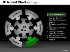 PowerPoint Process Teamwork Round Chart Ppt Template