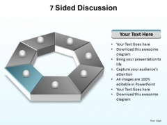 PowerPoint Process Teamwork Sided Discussion Ppt Presentation