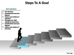 PowerPoint Process Teamwork Steps To A Goal Ppt Presentation