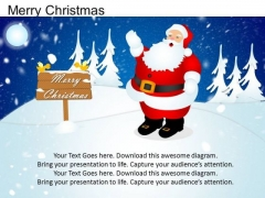 PowerPoint Santa Snow Merry Christmas Ppt Templates