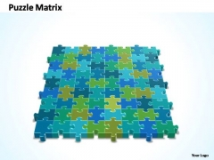 PowerPoint Slide Business 8x9 Rectangular Jigsaw Puzzle Matrix Ppt Process