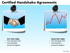 PowerPoint Slide Business Certified Handshake Ppt Layouts