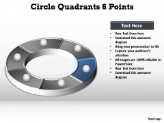 PowerPoint Slide Business Circle Quadrants Ppt Template