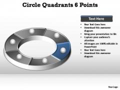 PowerPoint Slide Business Circle Quadrants Ppt Template