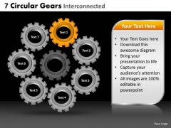 PowerPoint Slide Business Circular Gears Ppt Slide