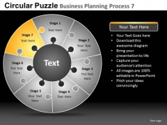PowerPoint Slide Business Growth Circular Puzzle Ppt Templates