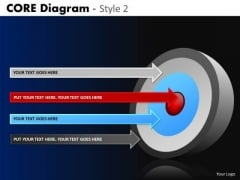 PowerPoint Slide Business Strategy Targets Core Diagram Ppt Layout