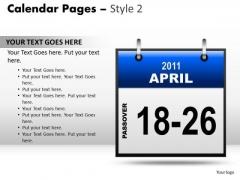 PowerPoint Slide Calendar 18-26 April Education Ppt Process
