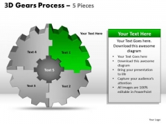 PowerPoint Slide Chart Gear Process Ppt Slide