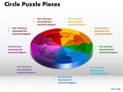 PowerPoint Slide Circle Puzzle Pieces Strategy Ppt Presentation