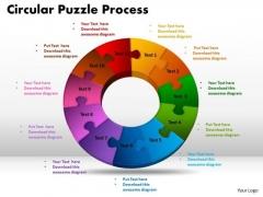 PowerPoint Slide Circuler Puzzle Process Ppt Design