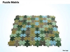 PowerPoint Slide Company 10x10 Rectangular Jigsaw Puzzle Matrix Ppt Design