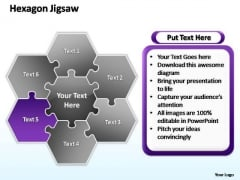 PowerPoint Slide Company Hexagon Jigsaw Ppt Presentation