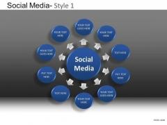 PowerPoint Slide Company Leadership Social Media Ppt Slide Designs