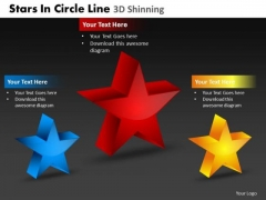 PowerPoint Slide Company Stars In Circle Ppt Layouts