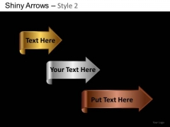 PowerPoint Slide Company Success Shiny Arrows 2 Ppt Templates