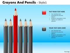 PowerPoint Slide Corporate Education Crayons And Pencils Ppt Theme