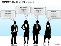 PowerPoint Slide Corporate Teamwork Swot Analysis Ppt Presentation