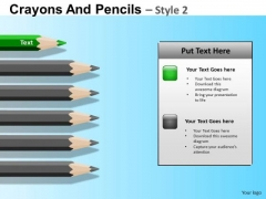 PowerPoint Slide Crayons Children Education School Ppt Layout