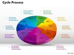 PowerPoint Slide Cycle Process Editable Ppt Backgrounds