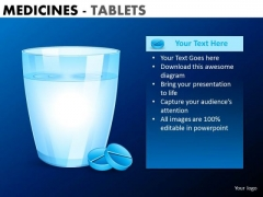 PowerPoint Slide Designs Business Leadership Vision Medicine Tablets Ppt Slides