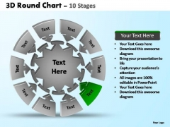 PowerPoint Slide Designs Business Pie Chart With Arrows Ppt Designs