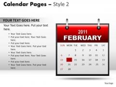 PowerPoint Slide Designs Calendar Chart 24 Februart Ppt Template