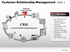 PowerPoint Slide Designs Chart Customer Relationship Management Ppt Template
