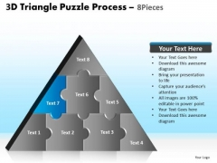 PowerPoint Slide Designs Chart Triangle Puzzle Ppt Slide