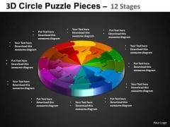 PowerPoint Slide Designs Circle Chart Circle Puzzle Diagram Ppt Themes