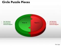 PowerPoint Slide Designs Circle Puzzle Pieces Chart Ppt Slide